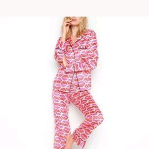 NEW Afterhours PJ The Satin Pajamas Set Sz L